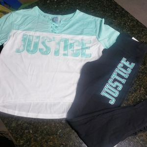 New Justice Teal Outfit Size 8